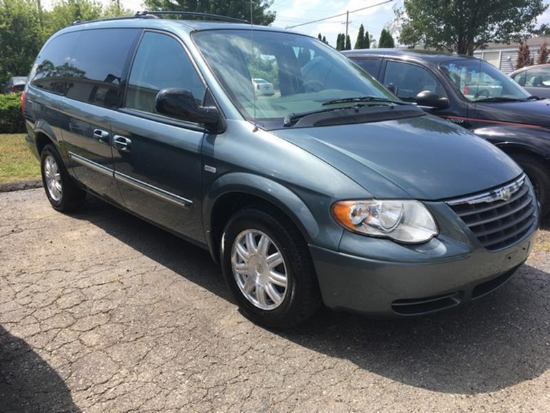2006 CHRYSLER TOWN AND COUNTRY TOURING 4DR EXTENDED MINI VAN blue touring fwd woodgrain trim d