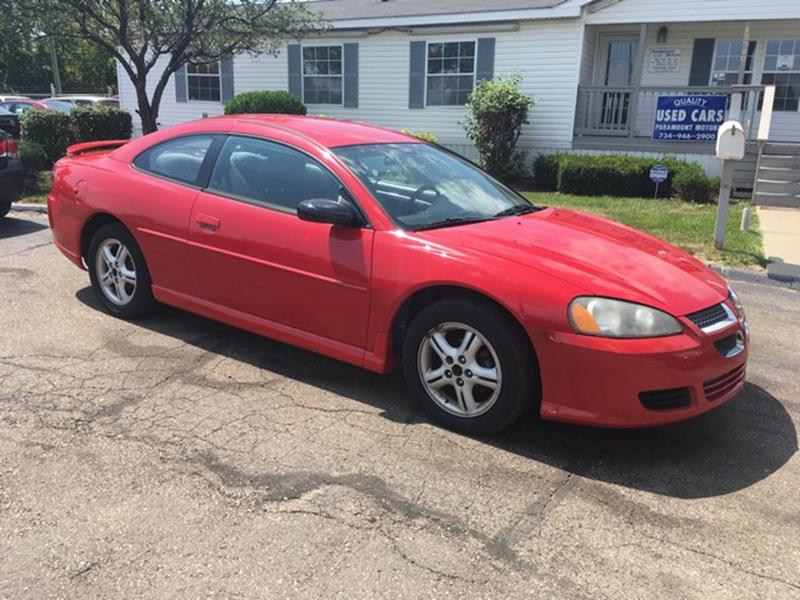 2005 DODGE STRATUS SXT 2DR COUPE red 98000 miles fwd 4 cylinder cloth interior automatic air
