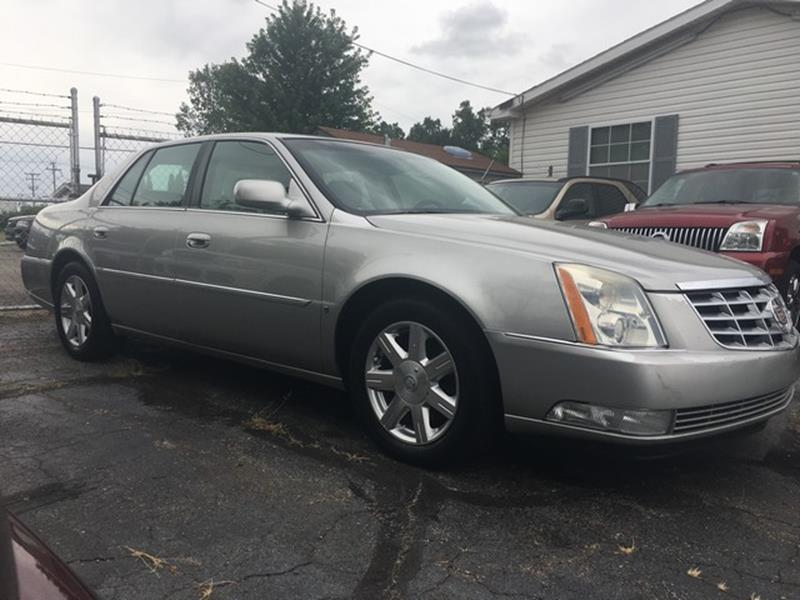 2007 CADILLAC DTS BASE 4DR SEDAN silver leather v8 fwd loaded moon roof air conditioning 4 w