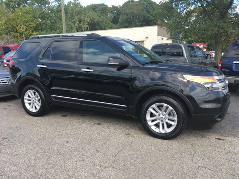 2012 FORD EXPLORER XLT AWD 4DR SUV black air conditioning 4 wheel standard abs power brakes po
