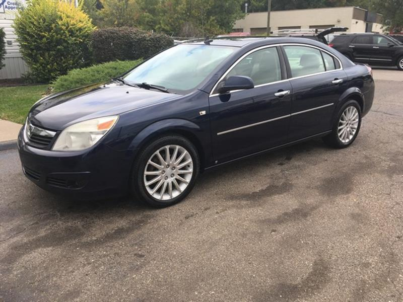 2008 SATURN AURA XR 4DR SEDAN blue air conditioning 4 wheel standard abs daytime running lights