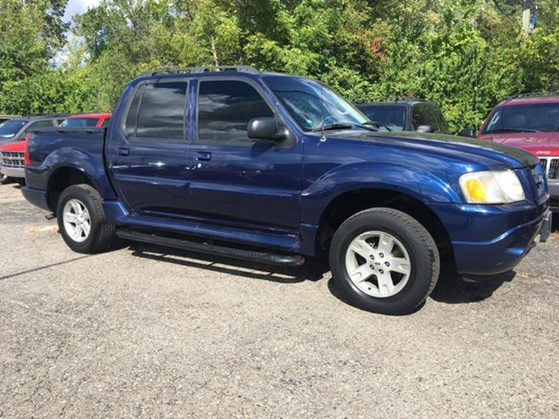 2005 FORD EXPLORER SPORT TRAC XLT 4DR 4WD CREW CAB SB blue air conditioning 4 wheel standard abs