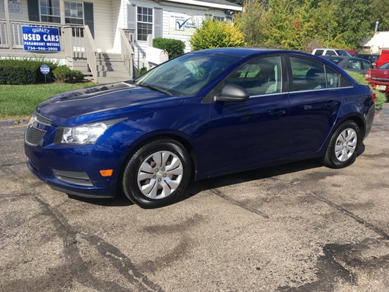 2012 CHEVROLET CRUZE LS 4DR SEDAN blue air conditioning 4 wheel standard abs daytime running li