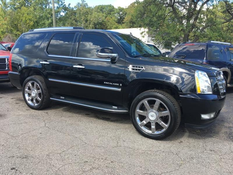 2008 CADILLAC ESCALADE BASE AWD 4DR SUV black air conditioning 4 wheel standard abs daytime run