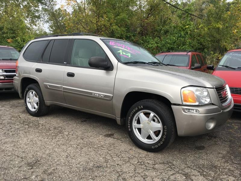 2002 GMC ENVOY SLE 4WD 4DR SUV silver air conditioning 4 wheel standard abs daytime running lig