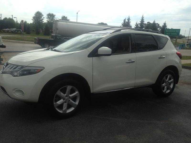 2009 NISSAN MURANO SL AWD 4DR SUV white awd leather interior moon roof power options fully lo