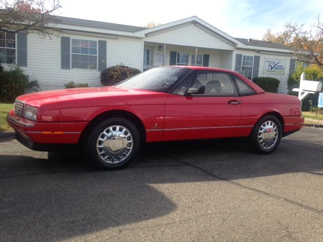 1992 CADILLAC ALLANTE BASE 2DR CONVERTIBLE red leather interior convertible hard top all power