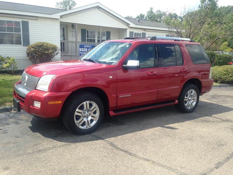 2007 MERCURY MOUNTAINEER PREMIER AWD 4DR SUV V8 red leather interior power options moon roof r