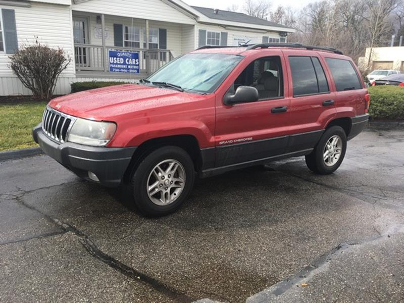 2003 JEEP GRAND CHEROKEE LAREDO 4DR 4WD SUV red laredo 4x4 leather moon roof loaded call now