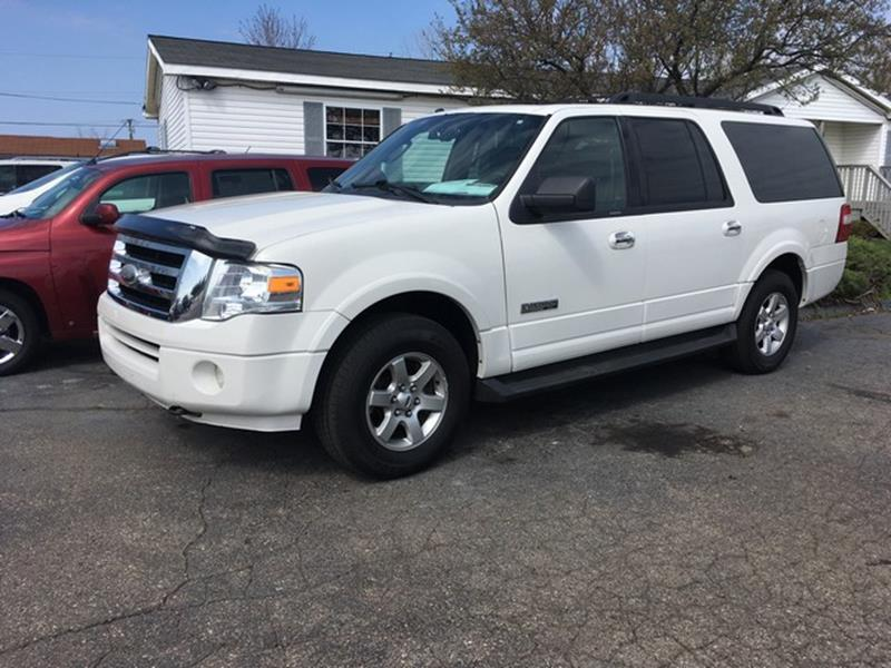 2008 FORD EXPEDITION EL XLT 4X4 4DR SUV white leather 4x4 moon roof all power options 3rd row