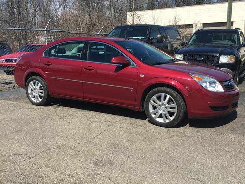 2007 SATURN AURA XE 4DR SEDAN burgandy gray leather interior low miles v6 all power call now