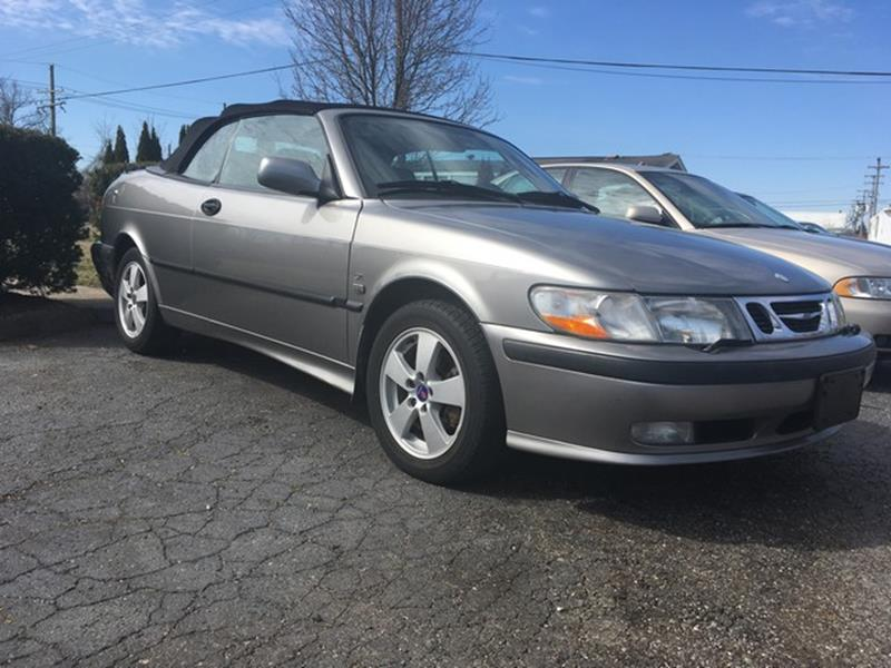 2003 SAAB 9-3 SE 2DR TURBO CONVERTIBLE gray conv fwd highway miles automatic power options
