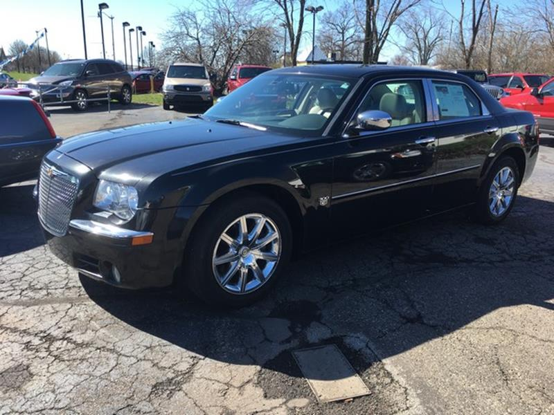 2007 CHRYSLER 300 C 4DR SEDAN black leather moon roof only 54000 miles v8 loaded call now f