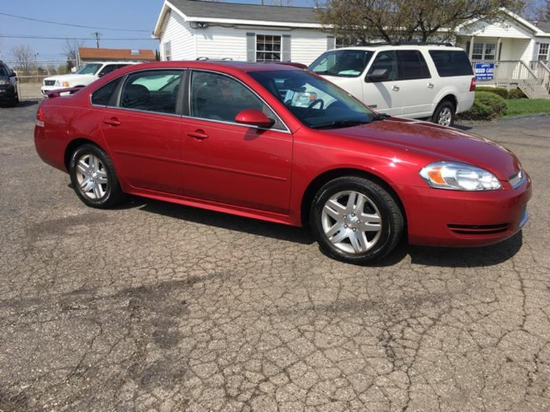 2012 CHEVROLET IMPALA LT 4DR SEDAN red all power moon roof cloth interior all power automatic