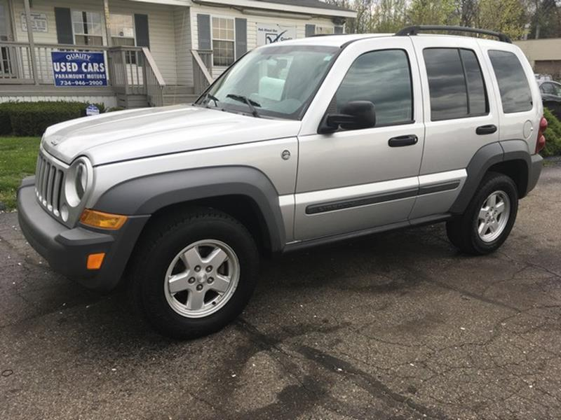 2006 JEEP LIBERTY SPORT 4DR SUV 4WD silver 4x4 all power sport edition call now for fast finan