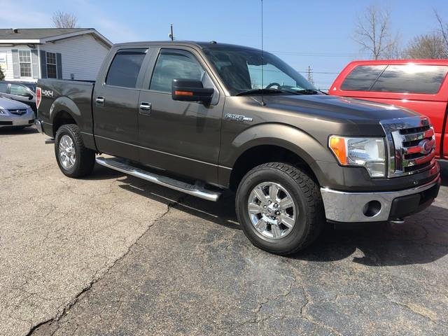2009 FORD F-150 XLT brown crew cab 4x4 v8 xlt  cloth interior great condiion air conditioni