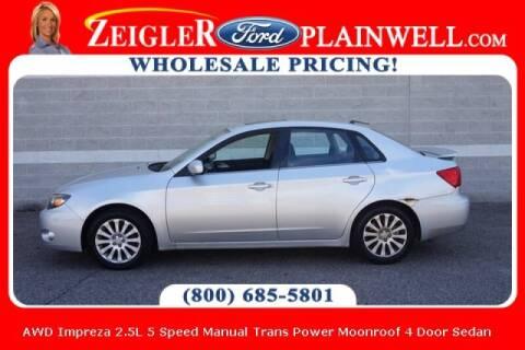 2009 Subaru Impreza for sale at Zeigler Ford of Plainwell- michael davis in Plainwell MI