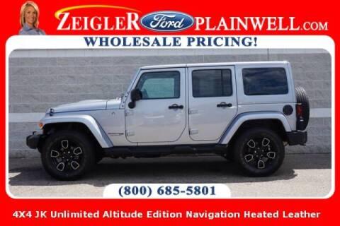 2018 Jeep Wrangler JK Unlimited for sale at Zeigler Ford of Plainwell- michael davis in Plainwell MI