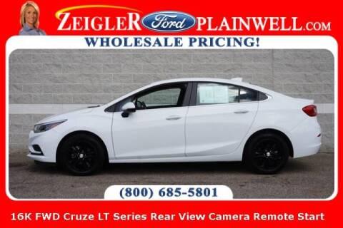 2017 Chevrolet Cruze for sale at Zeigler Ford of Plainwell- michael davis in Plainwell MI