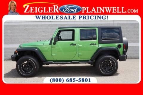 2012 Jeep Wrangler Unlimited for sale at Zeigler Ford of Plainwell- michael davis in Plainwell MI