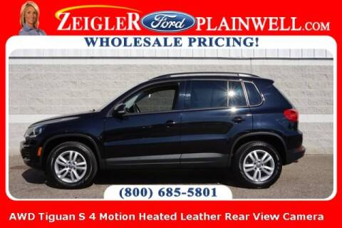 2016 Volkswagen Tiguan for sale at Zeigler Ford of Plainwell- michael davis in Plainwell MI