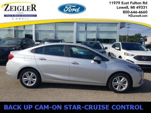 2018 Chevrolet Cruze for sale at Zeigler Ford of Plainwell- michael davis in Plainwell MI