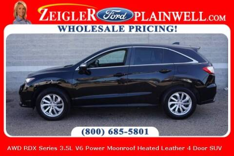 2016 Acura RDX for sale at Zeigler Ford of Plainwell- michael davis in Plainwell MI