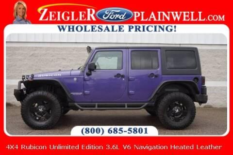 2017 Jeep Wrangler Unlimited for sale at Zeigler Ford of Plainwell- michael davis in Plainwell MI