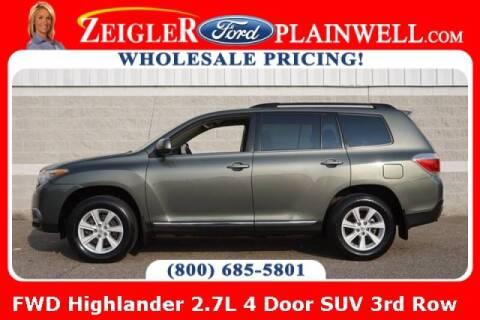 2012 Toyota Highlander for sale at Zeigler Ford of Plainwell- michael davis in Plainwell MI