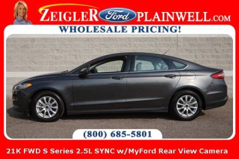 2016 Ford Fusion for sale at Zeigler Ford of Plainwell- michael davis in Plainwell MI