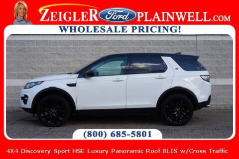 2017 Land Rover Discovery Sport for sale at Zeigler Ford of Plainwell- michael davis in Plainwell MI