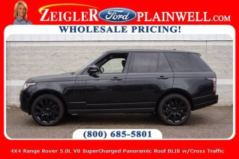 2016 Land Rover Range Rover for sale at Zeigler Ford of Plainwell- michael davis in Plainwell MI