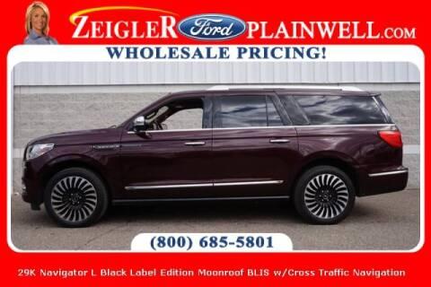 2018 Lincoln Navigator L for sale at Zeigler Ford of Plainwell- michael davis in Plainwell MI