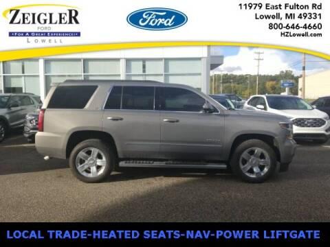 2017 Chevrolet Tahoe for sale at Zeigler Ford of Plainwell- michael davis in Plainwell MI