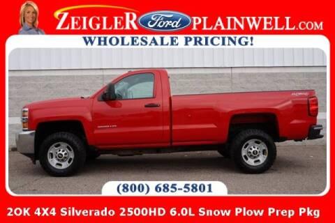 2015 Chevrolet Silverado 2500HD for sale at Zeigler Ford of Plainwell- michael davis in Plainwell MI