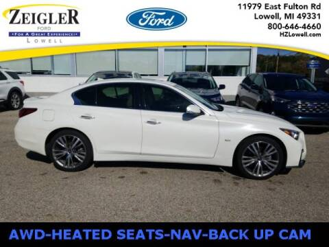 2018 Infiniti Q50 for sale at Zeigler Ford of Plainwell- michael davis in Plainwell MI