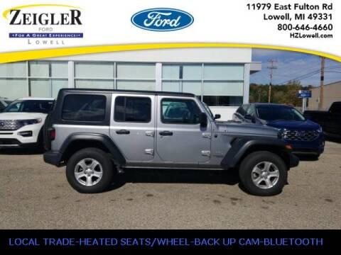 2018 Jeep Wrangler Unlimited for sale at Zeigler Ford of Plainwell- michael davis in Plainwell MI