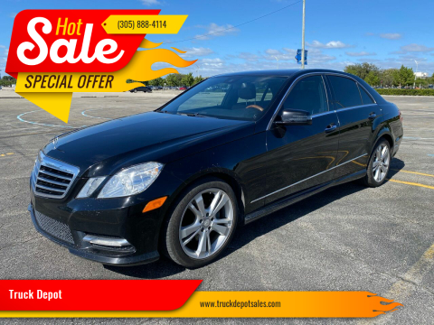 2013 Mercedes-Benz E-Class for sale at Truck Depot 2 in Miami FL