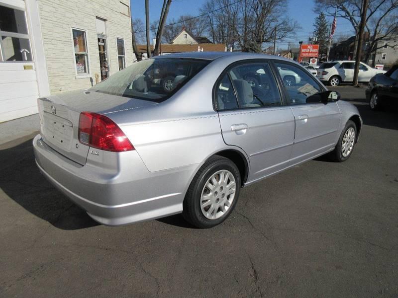 2005 Honda Civic LX 4dr Sedan w/Front Side Airbags - Plainville CT