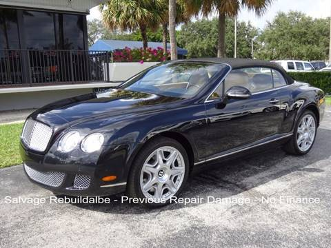 2010 Bentley Continental GTC for sale in Miami, FL