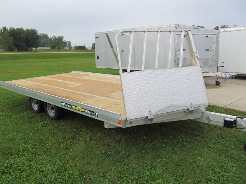 2020 Aluma 16' snow trailer for sale at Flaherty's Hi-Tech Motorwerks in Albert Lea MN
