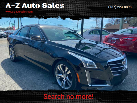 2015 Cadillac CTS for sale at A-Z Auto Sales in Newport News VA