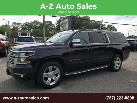 2015 Chevrolet Suburban for sale at A-Z Auto Sales in Newport News VA
