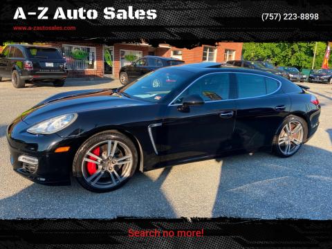 2011 Porsche Panamera for sale at A-Z Auto Sales in Newport News VA