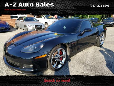 2012 Chevrolet Corvette for sale at A-Z Auto Sales in Newport News VA