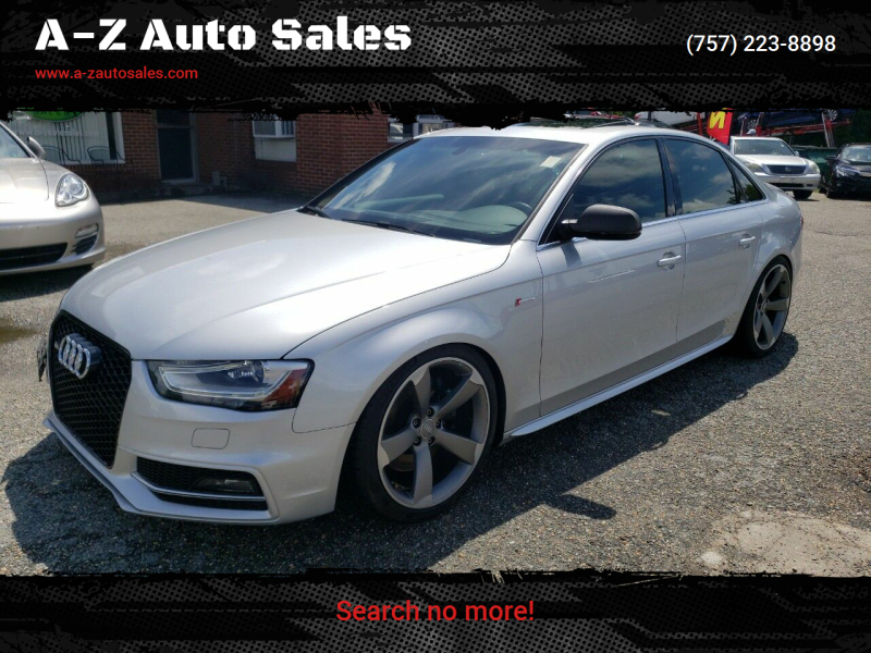 2013 Audi S4 for sale at A-Z Auto Sales in Newport News VA