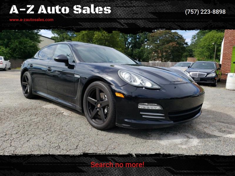 2012 Porsche Panamera for sale at A-Z Auto Sales in Newport News VA