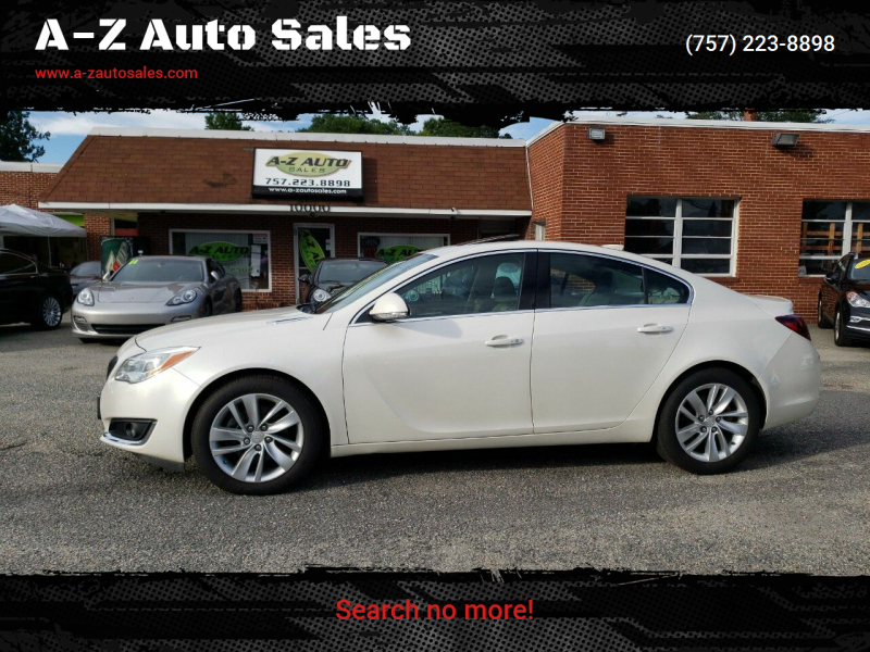 2015 Buick Regal for sale at A-Z Auto Sales in Newport News VA