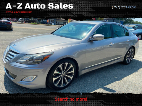 2012 Hyundai Genesis for sale at A-Z Auto Sales in Newport News VA