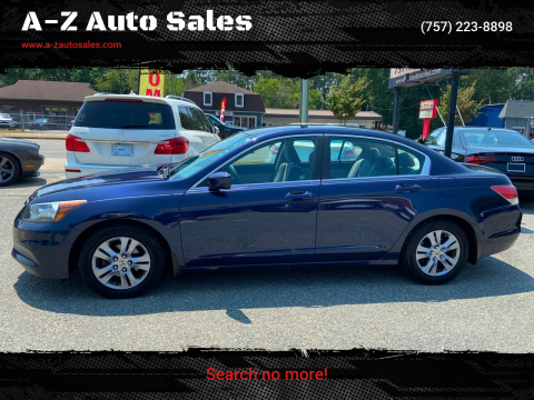 2012 Honda Accord for sale at A-Z Auto Sales in Newport News VA